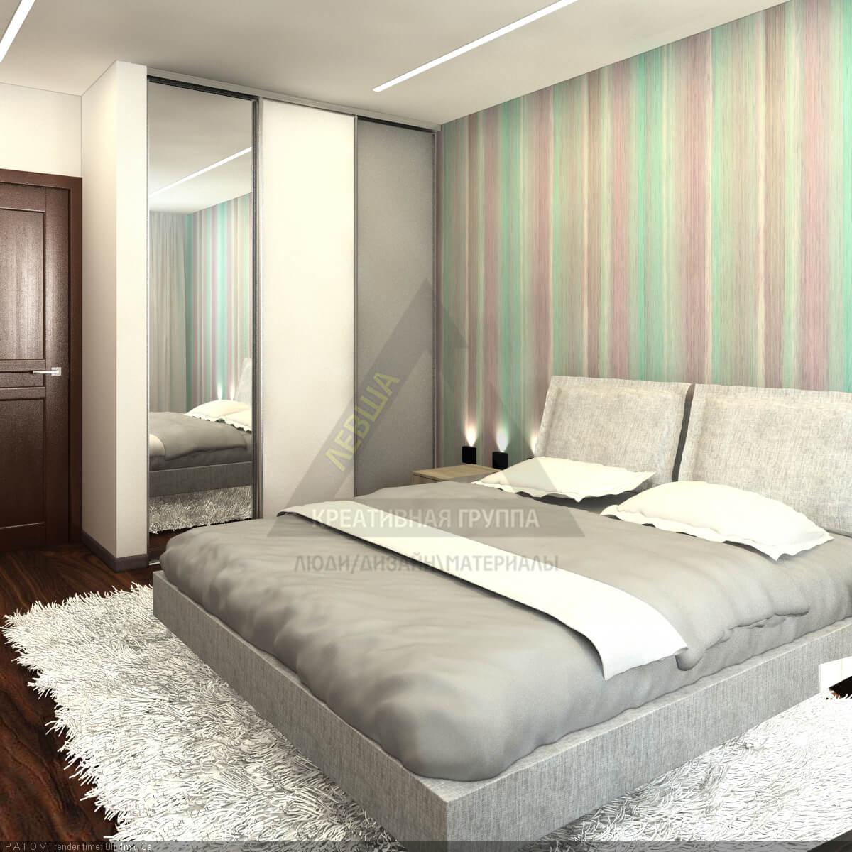 дизайн интерьеров Тюмень ЛевшаГрупп Зигзаги спальня