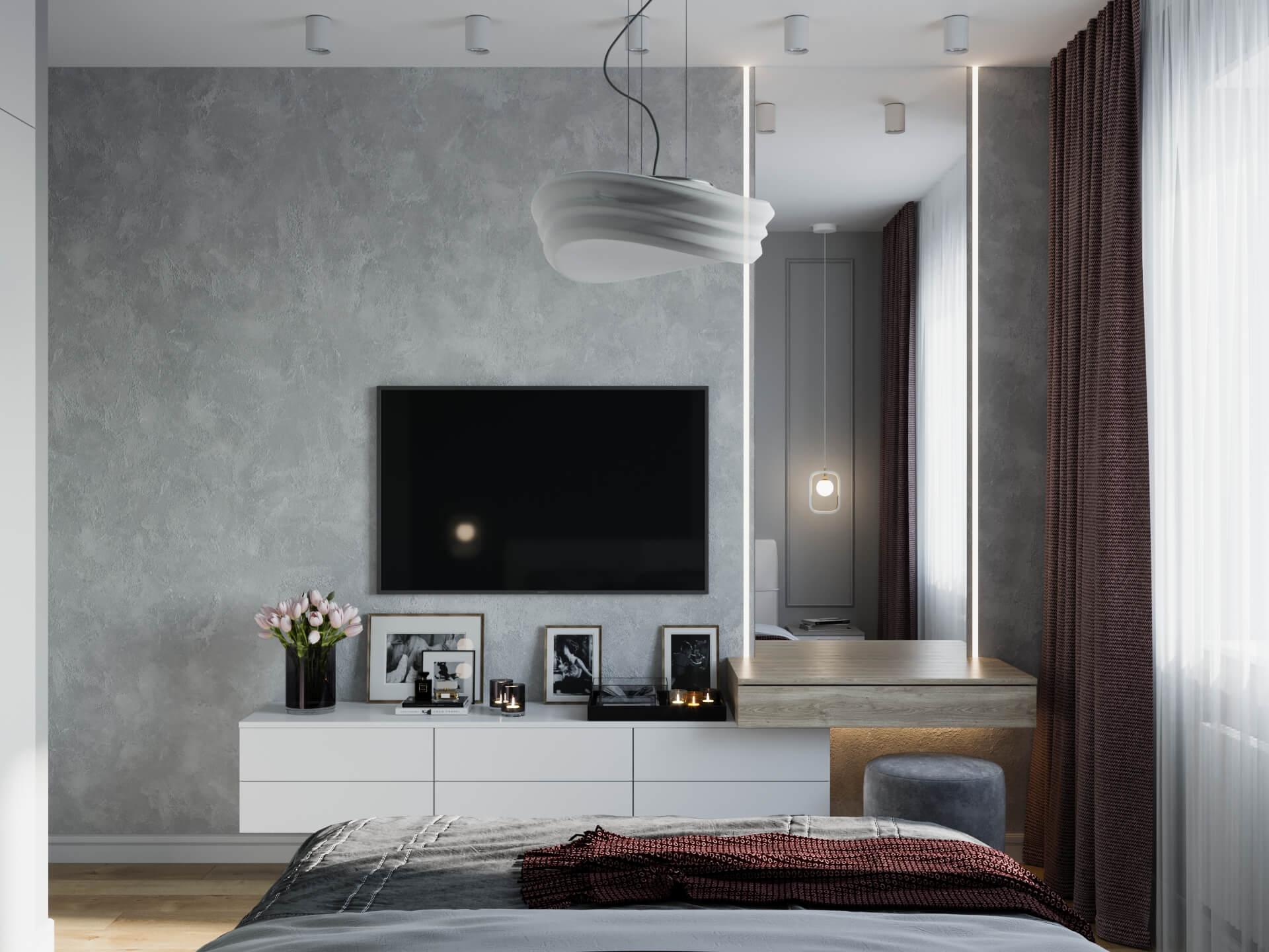 дизайн интерьеров Тюмень ЛевшаГрупп Pantone спальня