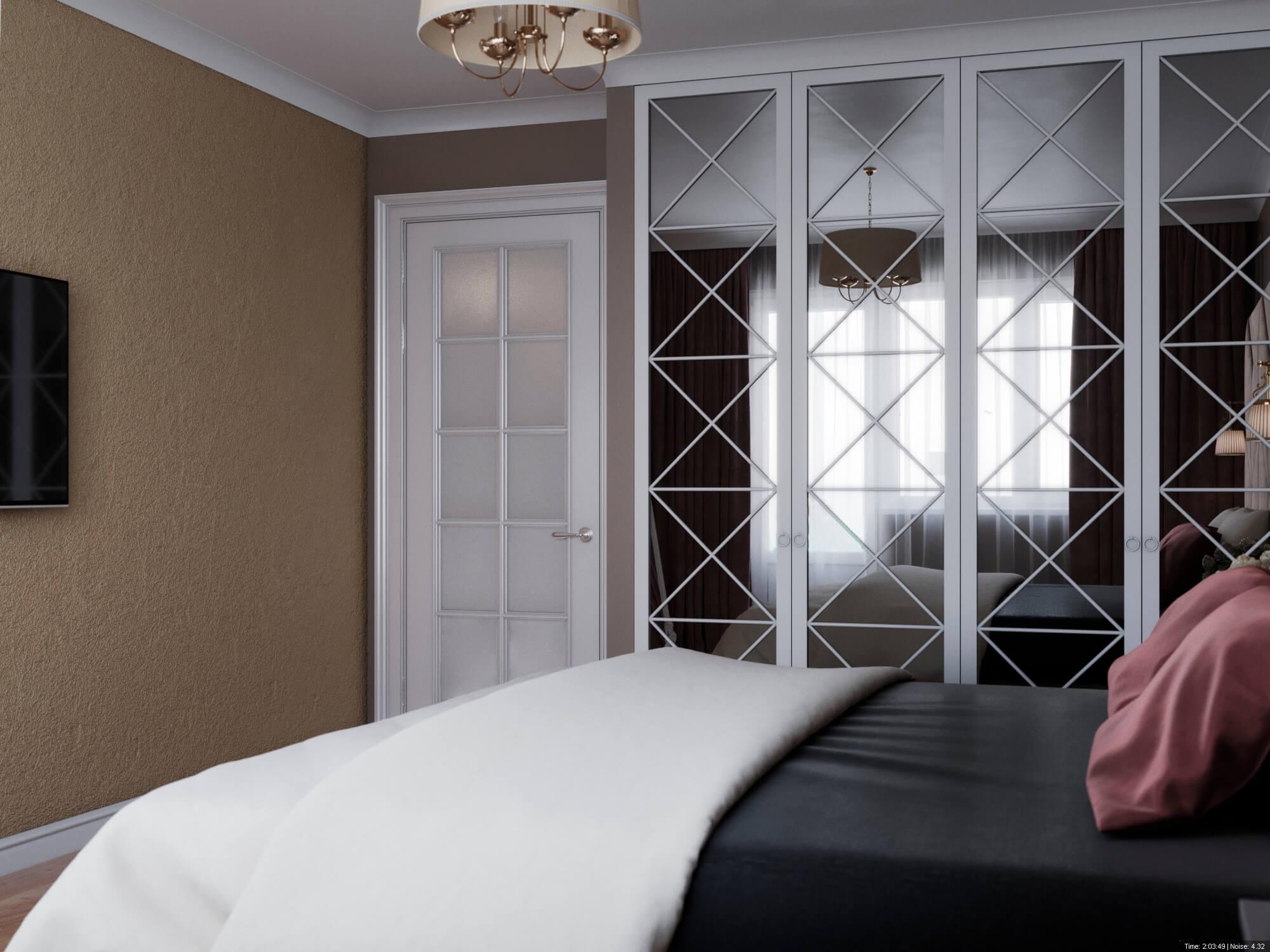 дизайн интерьеров Тюмень ЛевшаГрупп пыльно-розовый спальня