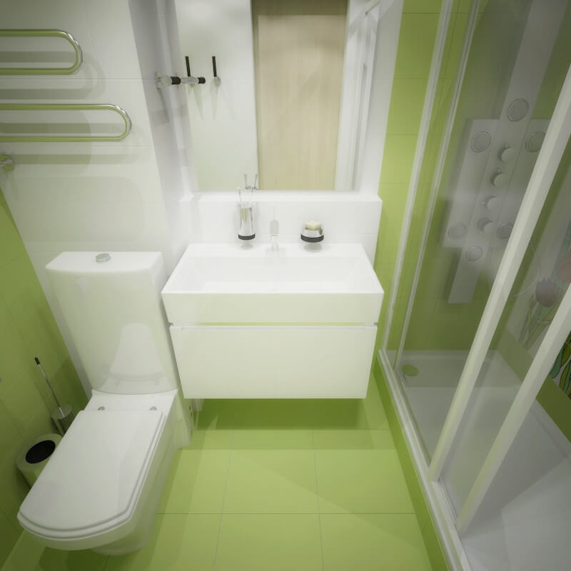 дизайн интерьеров Тюмень ЛевшаГрупп Домик принцессы санузел ванная