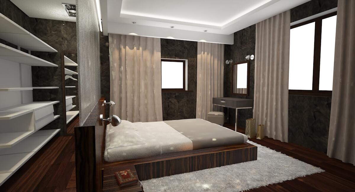 дизайн интерьеров Тюмень ЛевшаГрупп Four Seasons спальня