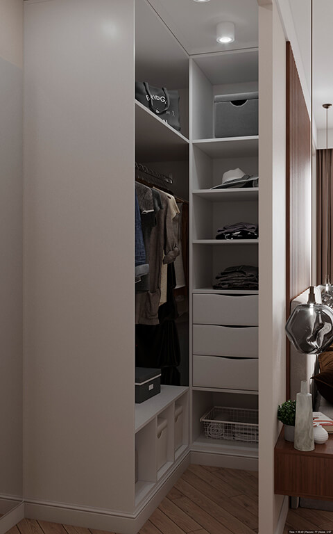 дизайн интерьеров Тюмень ЛевшаГрупп отсек для одежды
