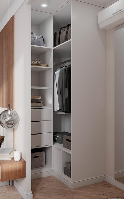 дизайн интерьеров Тюмень ЛевшаГрупп отсек шкаф для одежды