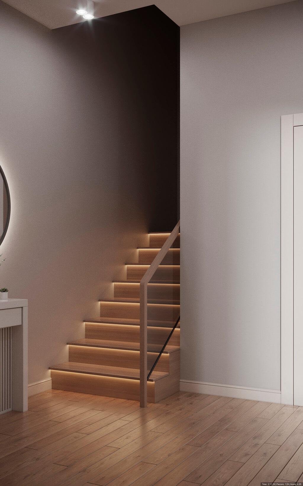 дизайн интерьеров Тюмень ЛевшаГрупп лестница