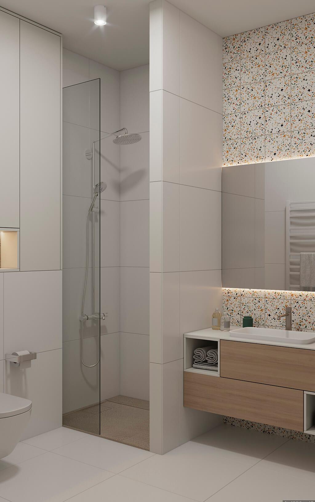 дизайн интерьеров Тюмень ЛевшаГрупп ванная душевая кабина